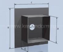 Потолочная разделка Lokki с покрытием из полимеров, d=115 мм(размер 500*500 мм)