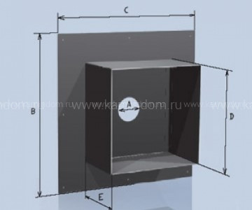 Потолочная разделка Lokki с покрытием из полимеров, d=150 мм(размер 550*550 мм)