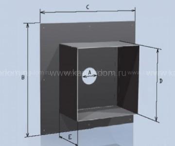 Потолочная разделка Lokki с покрытием из полимеров, d=150 мм(размер 840*840 мм)