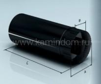 Сэндвич-труба Lokki эмалированная 1 м, d=150*210 мм