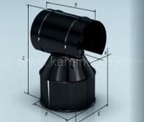 Оголовок Lokki эмалированный, d=115*200 мм