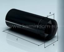 Сэндвич-труба Lokki эмалированная 0,5 м, d=115*200 мм