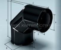 Cэндвич-отвод Lokki эмалированный для дымохода 90°, d=120*200 мм