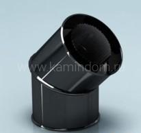 Сэндвич-отвод Lokki эмалированный для дымохода 135°, d=150*210 мм