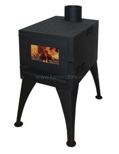 Отопительная печь-буржуйка EcoKamin Кельн-турбо с плитой