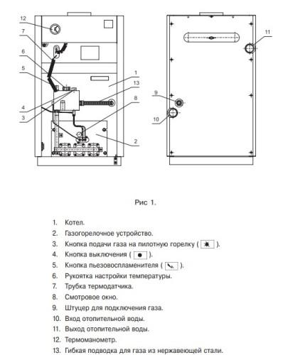 Напольный газовый котел Лемакс Лидер-35