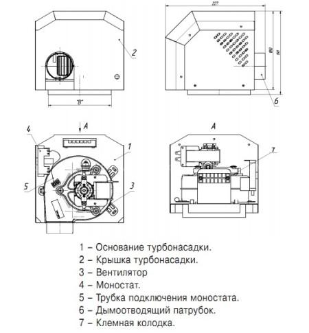 Турбонасадка Лемакс L (диаметр 130мм) для котлов с автоматикой 820 NOVA SIT