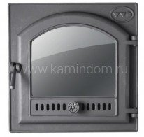 Дверь чугунная с панорамным стеклом для моделей Калита (h-755) / Калита+ (h-805)