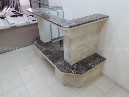 Каминная облицовка Stimlex Damask Emperador (пристенная)