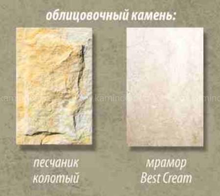 Каминная облицовка Stimlex Damask Cream (угловая)