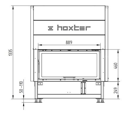 Каминная топка Hoxter HAKA 89/45h