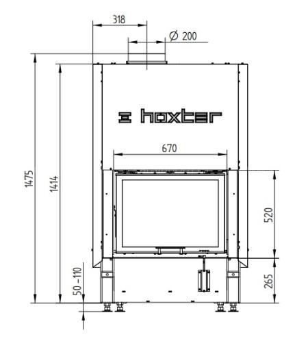 Каминная топка Hoxter HAKA 67/51Wh +