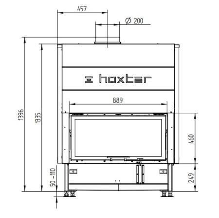 Каминная топка Hoxter HAKA 89/45Wh