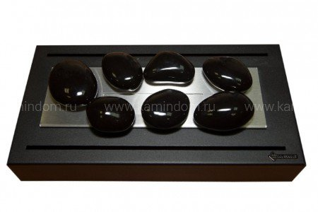 Керамическая галька Kratki №14 черная