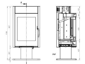 Дровяная печь Ember Миляна SKI 400DV