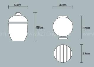 Керамический гриль Monolith Junior (малый)