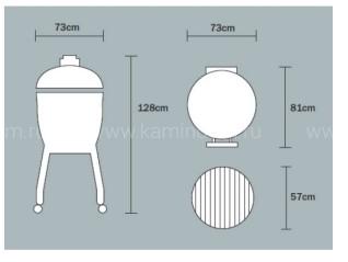 Керамический гриль Monolith Le Chef (огромный)