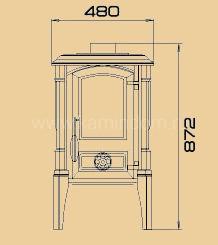 Печь-камин Guca Arina (высокая)
