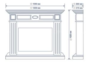 Каминокомплект Electrolux Bianco 30 с очагом EFP/P - 3020LS