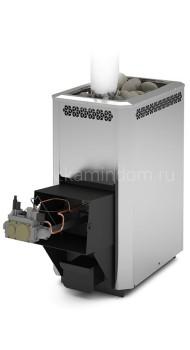Газо-дровяная печь для бани Теплодар Сибирь 20 ЛНЗП с АГГ 20П