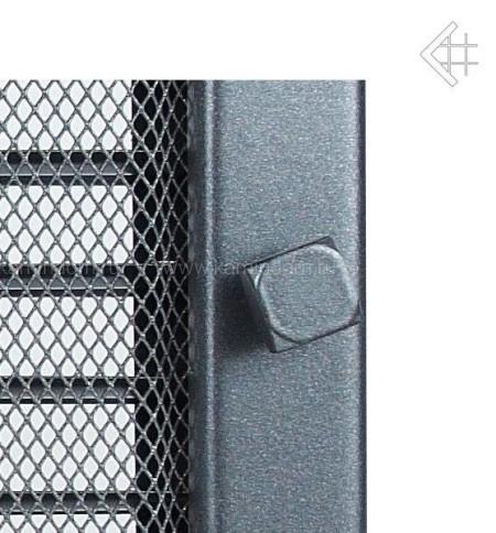 Вентиляционная решетка Kratki графит 17х37 с жалюзи