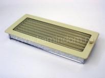 Вентиляционная решетка Kratki кремовая 17х37 с жалюзи