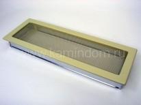 Вентиляционная решетка Kratki кремовая 17х49
