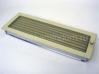 Вентиляционная решетка Kratki кремовая 17х49 с жалюзи