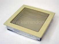 Вентиляционная решетка Kratki кремовая 22х22