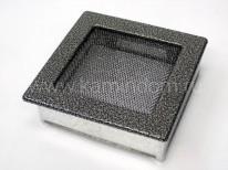 Вентиляционная решетка Kratki черная/серебро 17х17