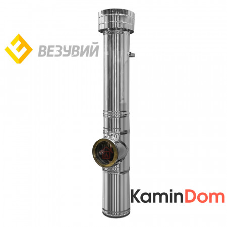 Насадной комплект дымохода Везувий Бюджет - Ø180, 3 м