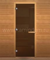 Дверь для бани/сауны LK ДС Бронза 1800х800мм ОСИНА