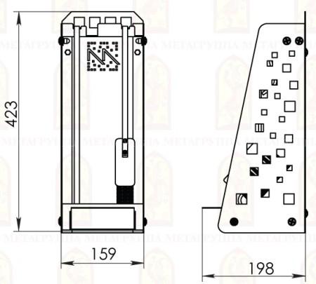 Каминный набор Мета НКА-20МД