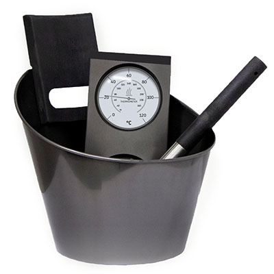 Набор аксессуаров Harvia из нержавеющей стали (черный)